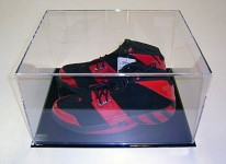 Basketball shoes Encased in an Acrylic Box